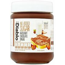 Diablo No Added Sugar Hazelnut Chocolate Spread (hozzáadott cukor nélkül készül csokoládé krém) 350 g