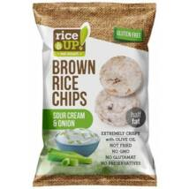 Rice Up Barna Rizs Chips Hagymás-Tejfölös 60 g