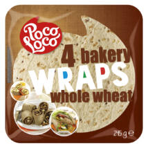 Poco Loco - Teljes kiőrlésű wrap 245 g