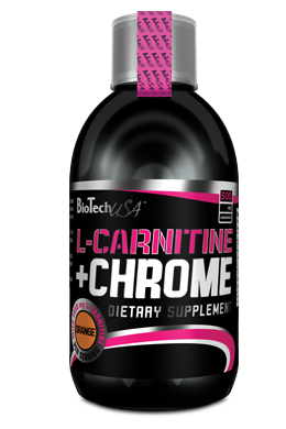 BioTechUsa - L-Carnitine +Chrome 500 ml - narancs