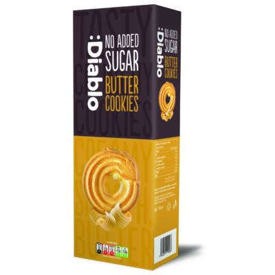 Diablo No Added Sugar Butter Cookies (vajas keksz) 135 g