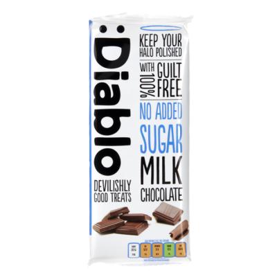 Diablo No Added Sugar Milk Chocolate (tejcsokoládé hozzáadott cukor nélkül) 85 g