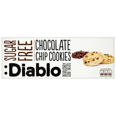 Diablo Sugar Free Chocolate Chip Cookies (cukormentes csokoládé darabos keksz) 150 g