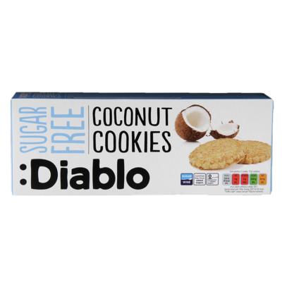 Diablo Sugar Free Coconut Cookies (cukormentes kókuszos keksz) 150 g