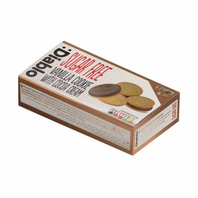 Diablo Sugar Free Vanilla Cookie with cocoa cream (vaníliás sütemény kakaós krémmel) 176 g