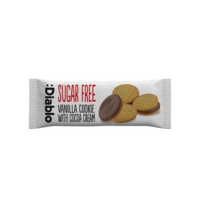 Diablo Sugar Free Vanilla Cookie with cocoa cream (vaníliás sütemény kakaós krémmel) 44 g