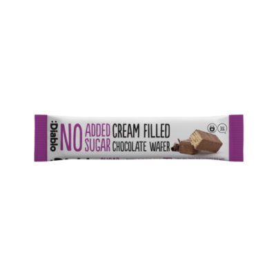 Diablo No Added Sugar Cream Filled Milk Chocolate Wafer (nápolyi csokoládés krémmel hozzáadott cukor nélkül) 30 g