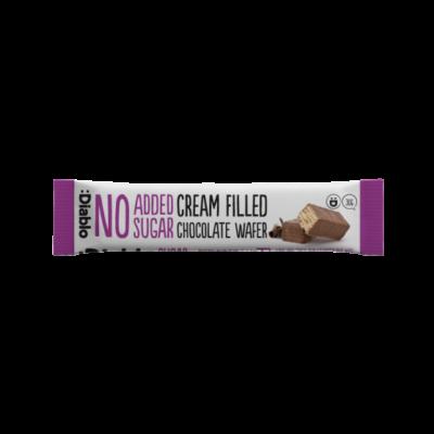 Diablo No Added Sugar Cream Filled Milk Chocolate Wafer (nápolyi csokoládés krémmel hozzáadott cukor nélkül) 30 g