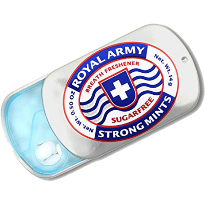 Royal Army Strong Mints cukormentes mentolos cukorka