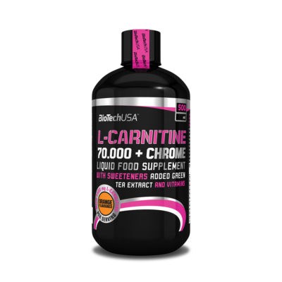 BiotechUSA L-Carnitine+Chrome 70.000 narancs 500 ml