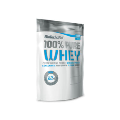 BiotechUSA 100% Pure Whey 454 g Karamell- Cappuccino