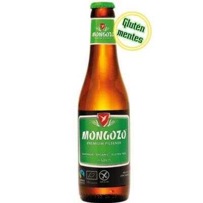 Mongozo Premium Pilsener gluténmentes belga sör (0,33 l, 5%)