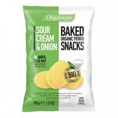 BIO Organique chips Hagymás-tejfölös 85 g