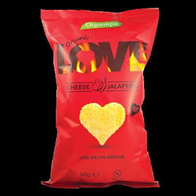 Bio Organique Chips Sajtos-Jalapenos 50 g