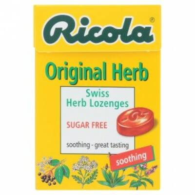 Ricola cukormentes svájci gyógynövény cukorkák 40g