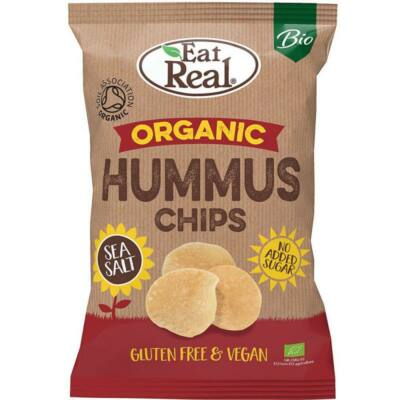 Eat Real Hummus Chips Tengeri Sós 135 g
