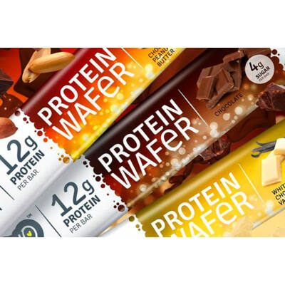 Novo Protein Waffer 38g - csokoládés-mogyorós