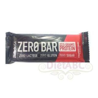 BioTech USA - Zero bar protein szelet 50g banán-eper