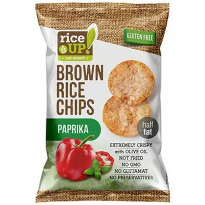 Rice Up Barna Rizs Chips Paprikás 60 g