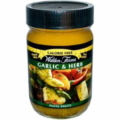 Walden Farms - Garlic & Herb Pasta Sauce (fokhagymás & zöldfűszeres tészta szósz)  340g
