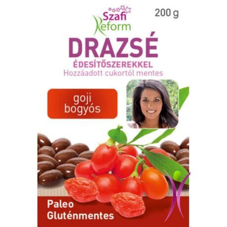 Szafi Reform Eritrites goji bogyós drazsé (gluténmentes, vegán, paleo) 100 g