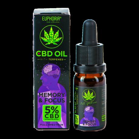 Euphoria CBD oil 5% Memory&Focus 10ml