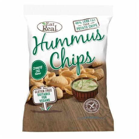 EAT REAL HUMMUS Chips tejszínes&kapros 45 g