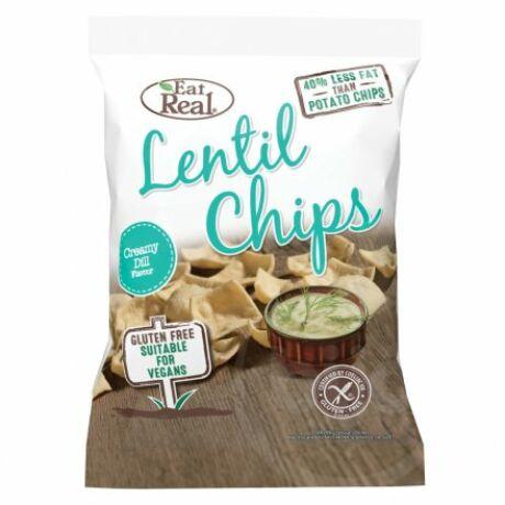 EAT REAL LENTIL Chips tejszínes&kapros 40g