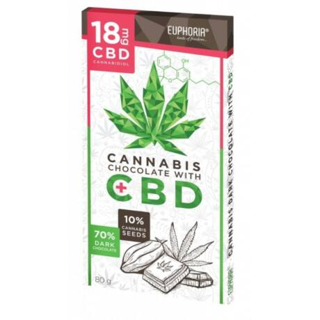 Euphoria Cannabis Dark Chocolate With CBD 80g