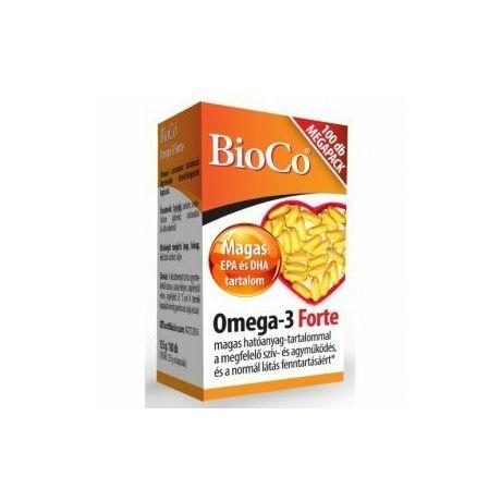 BioCo (MÉKISZ) Omega-3 forte MEGAPACK lágyzselatin kapszula 100x