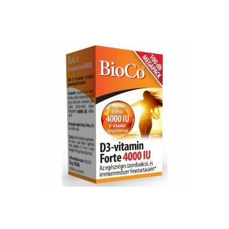 BioCo D3-vitamin Forte 4000 IU MEGAPACK tabletta 100x