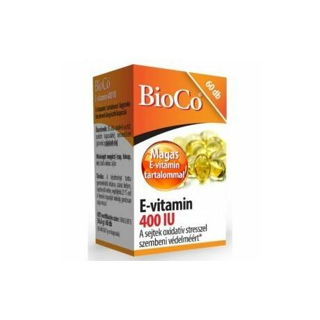 BioCo E-vitamin 400IU lágyzselatin kapszula 60x