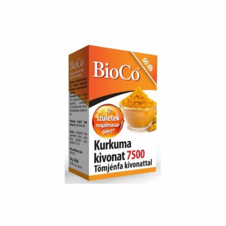BioCo Kurkuma kivonat 7500 tömjénfa kivonattal kapszula 60x