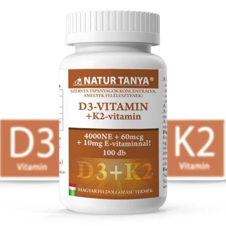 Natur Tanya Szerves D3 és K2 Vitamin 100tabl.