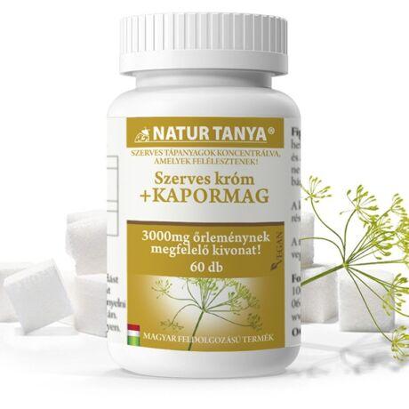 Natur Tanya Szerves Kapormag Forte+Króm 60tabl.