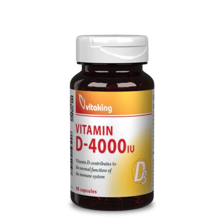 Vitaking D-4000 Vitamin 90kapsz.