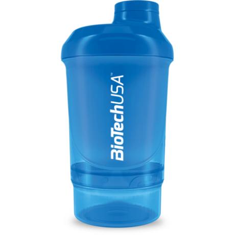 BioTechUSA Keverőpalack Biotech Wave+ Nano 300 ml (+150 ml) kék