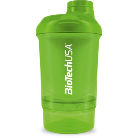 BioTechUSA Keverőpalack Biotech Wave+ Nano 300 ml (+150 ml) zöld