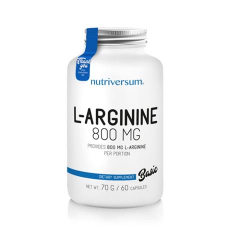 Nutriversum Baisc L-Arginine 800mg 60 caps unflavoured