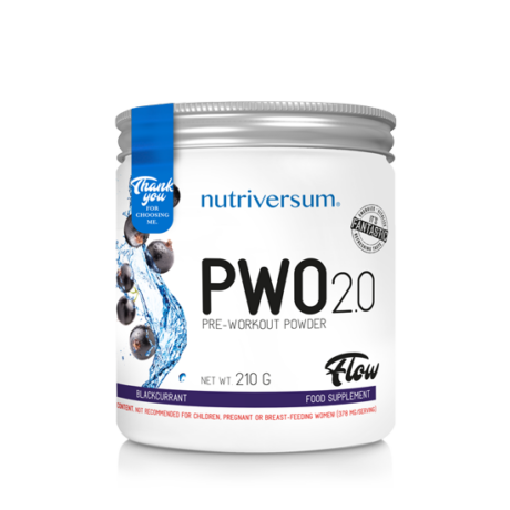 Nutriversum Flow PWO 2.0 210g blackcurrant
