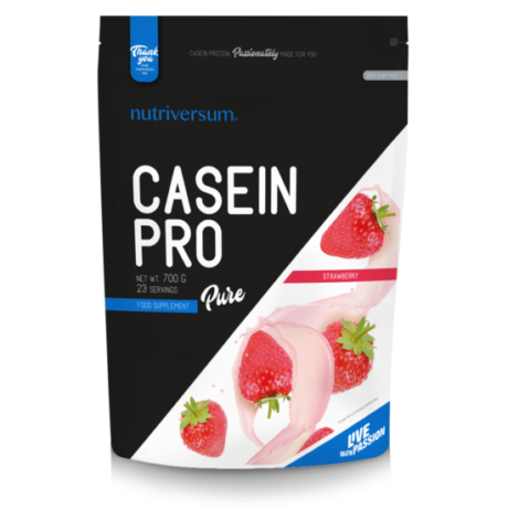 Nutriversum Pure Casein PRO 700g strawberry