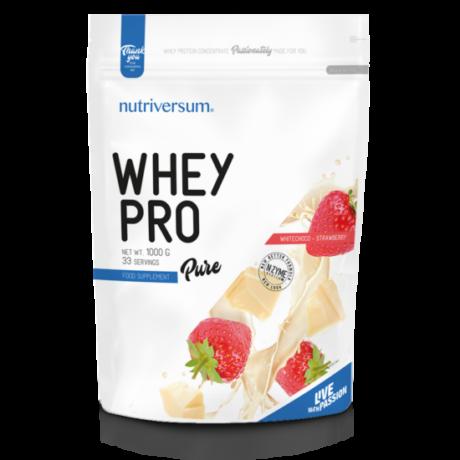 Nutriversum Pure Whey Pro 1000g white chocolate strawberry