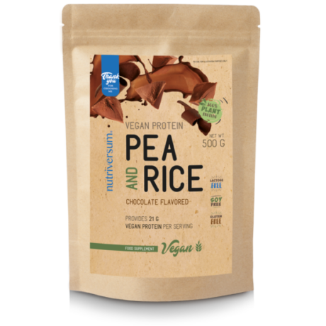 Nutriversum Vegan Pea and Rice Vegan Protein 500g chocolate