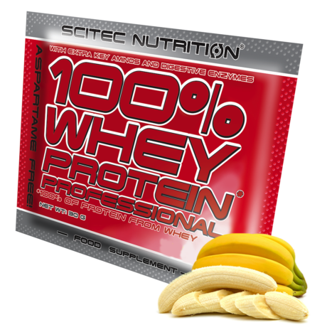 Scitec Sample Whey Protein Professional 30g banán