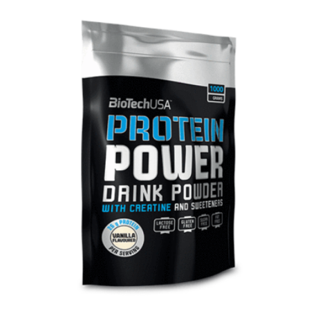 BioTechUSA Protein Power 1000g ZSÁKOS eper-banán