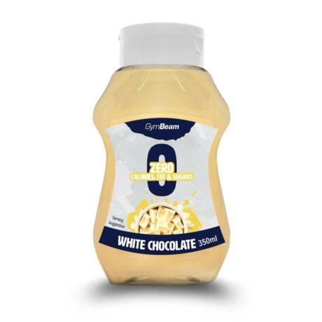 GymBeam Kalóriamentes szirup 350 ml white chocolate
