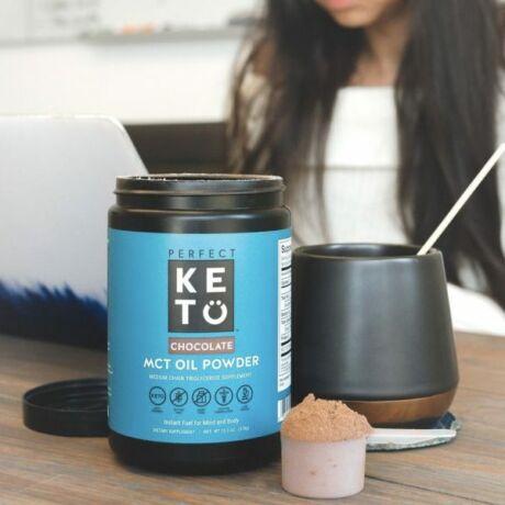 Perfect Keto MCT Oil Powder Chocolate 378g