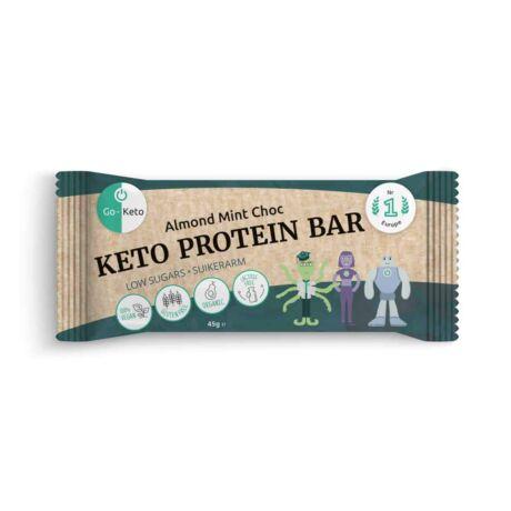 GO Keto MCT Keto Protein Bar Almond Mint Chocolate 40g