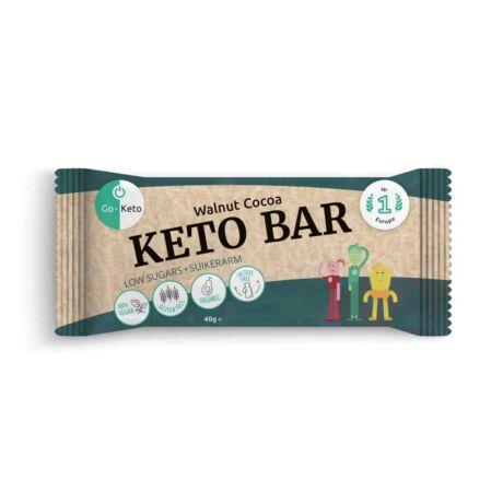 GO Keto MCT Keto Bar Walnut Cocoa 40g