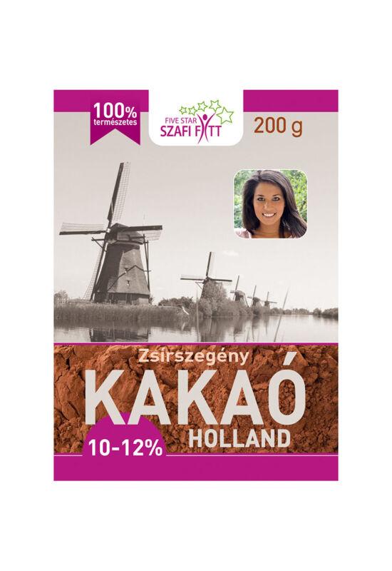 Szafi Reform Zsírszegény holland kakaópor (10-12% kakaóvaj..
